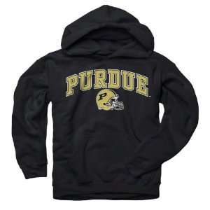 Purdue Boilermakers Youth Black Football Helmet Hooded