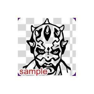 SUPERHERO SUPER VILLAIN DARTH MAUL 10 WHITE VINYL DECAL