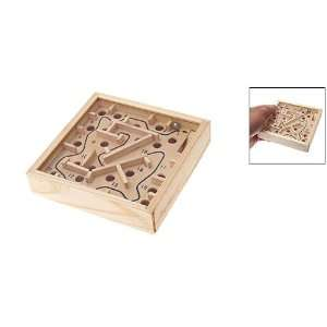 Como Moving Wooden Marbe Puzzle Game Maze Toys Labyrinth