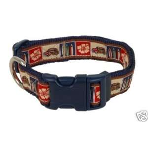 Paquette Nylon Dog Collar SURF WOODIE 1x18 26