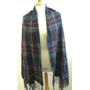 Baby Lamb Wool Shawl Has 2 Pockets Classic Plaid Pattern. It is Very