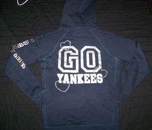 Victorias Secret PINK NY Yankees Hoodie NWT Bling