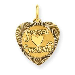 14K Special Friend Charm   Measures 18.3x13.3mm   JewelryWeb Jewelry