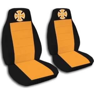Black and Orange Iron Cross seat covers. 40/20/40 seats for a 2007 to