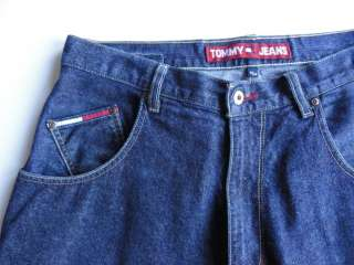 TOMMY HILFIGER Mens Shorts Slouch Fit Denim Very Long 36 x 17 (tag