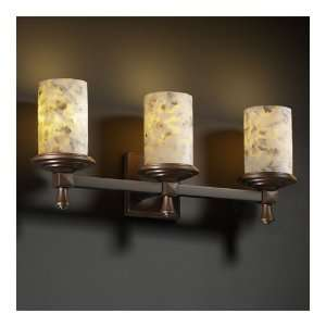 Justice Design Group ALR 8533 10 DBRZ Alabaster Rocks 3 Light Bathroom