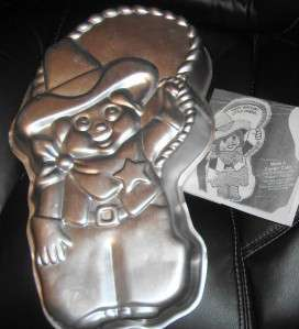 ღ♥Wilton BIG COWBOY cake pan WESTERN COWGIRL SHERIFF mold tin