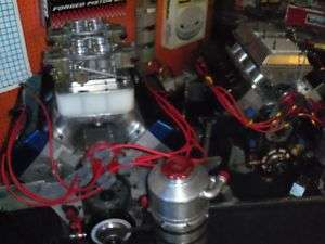 NEW STYLE PRO STOCK HEMI DRAG RACE ENGINE 2 COMPLETE