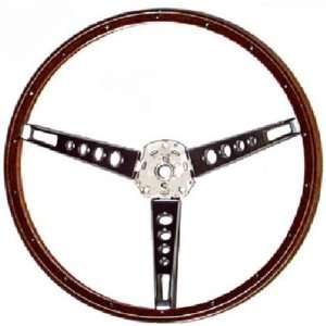 New Ford Mustang Steering Wheel   Deluxe Wood 65 66 Automotive