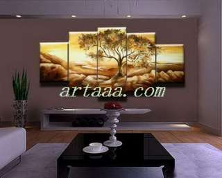 abstract art oil painting Tree open wealth modern landscape Home Decor