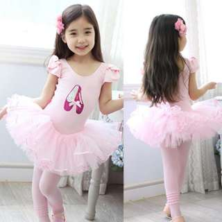 Girls Pink Party Leotard Ballet Tutu Skirt Dress Dance