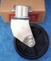 SHELBY Solid Swivel CASTER Wheel 2 Trailer Jack Horse