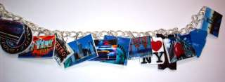 New York Charm Bracelet big apple,Statue of liberty,