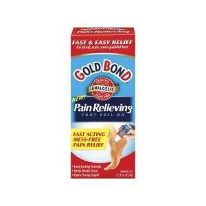 Gold Bond Pain Relieving Foot Roll on, Size 2.5 oz
