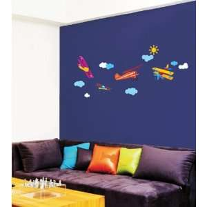 AIRPLANE WALL ART DECOR Mural Decal STICKER(SS58223)