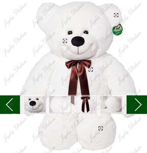 GIANT HUGE FAT 47 WHITE TEDDY BEAR STUFFED PLUSH TOY