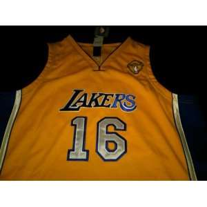 Pau Gasol Authentic Gold Los Angeles Lakers Jersey Sizes 56 Baby