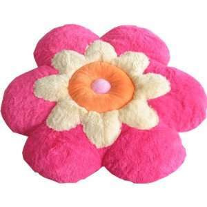 Soft Cozy Cat Dog Pet Bed / Large Pink Flower Pillow