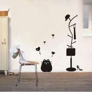 Large  easy Instant Decoration Wall Sticker Deco cat