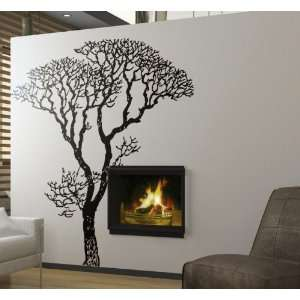 Vinyl Wall Art Decal Sticker Bare Autumn Tree 6 Feet Tall