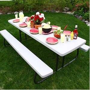 Lifetime 8 Folding Picnic Table Lightweight, Durable, and
