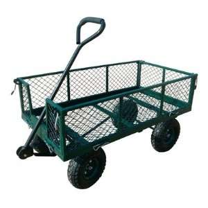 Heavy Duty Steel Crate Wagon 34L x 18W (Green) (34D x 21.5H x 18W
