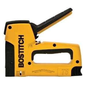 Bostitch T6 8 1/4 to 9/16 Heavy Duty PowerCrown Staple Gun Tacker