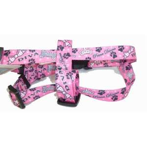 Diva Princess Dog Easy Step In Luxury Harness Pink Small
