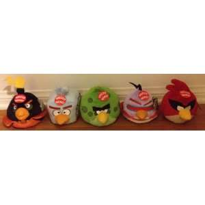 Angry Birds Space 5 Inch DELUXE Plush with sound Set of 5