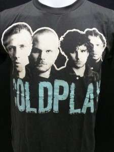 Coldplay music alternative rock band mens t shirt XL
