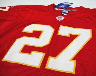LARRY JOHNSON ON FIELD JERSEY 48 M KANSAS CITY CHIEFS NFL RBK