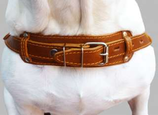 27 32 Pulling Leather Dog Harness Brown Large
