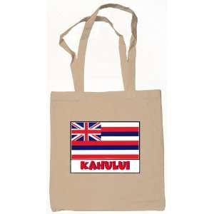 Kahului Hawaii Souvenir Canvas Tote Bag Natural