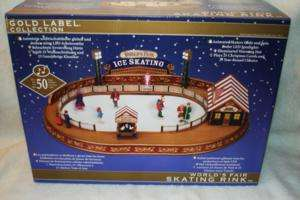 CHRISTMAS WORLDS FAIR SKATING RINK ANIMATED MUSICAL COLLECTIBLE