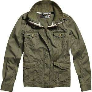 Fox Racing Womens Duster Jacket   X Large/Olive Green