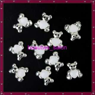 10 pcs Cute Heart Bear Shape 3D Nail art Sticker Nail decoration decal