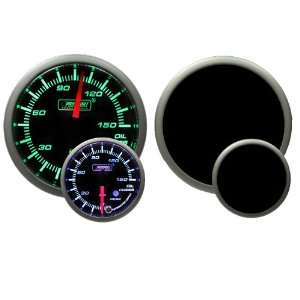 Oil Pressure Gauge with Peak and Warning Electrical Green