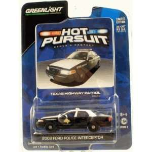 Greenlight Hot Pursuit 2008 Ford Police Interceptor   Texas Highway