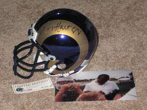 TORRY HOLT SIGNED AUTOGRAPH AUTO ST LOUIS RAMS CHROME HELMET ONLY 2000