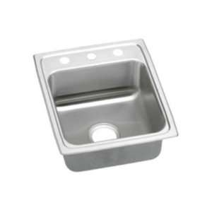 Top Mount Self Rim Single Bowl ADA Compliant 18 Gauge Stainless Steel