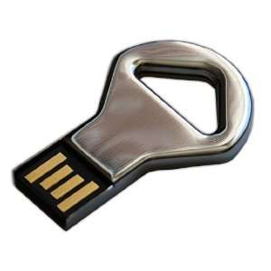 AMP 8GB Chrome Key Shaped USB Flash Drive
