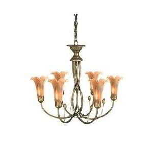Dale Tiffany TH70042 Columbus 6 Light Single Tier Chandelier in