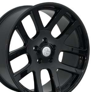 SRT Style Wheel Fits Dodge   Blackl 22x10 Automotive