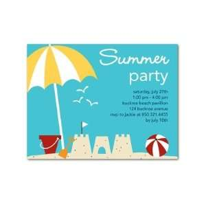 Party Invitations   Sandcastle Fun By Ann Kelle Toys & Games