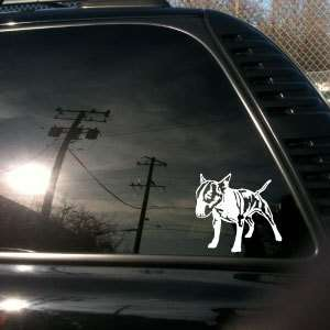 English Bull Terrier Miniature truck car vinyl decal 1