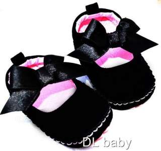 Black kids toddler baby girl Mary Jane shoes size 2 3