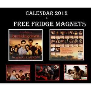 BREAKING DAWN TWILIGHT OFFICIAL CALENDAR 2012 + 3 FRIDGE MAGNETS SET