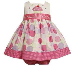 Bonnie Jean Baby Girls Princess Poka Dot Cupcake Birthday Party Dress