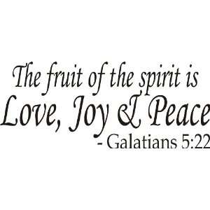 spirit is love, joy and peace Bible Verse Vinyl Art