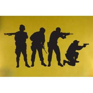 Vinyl Wall Art Decal Sticker (#210) Military SWAT Team (4